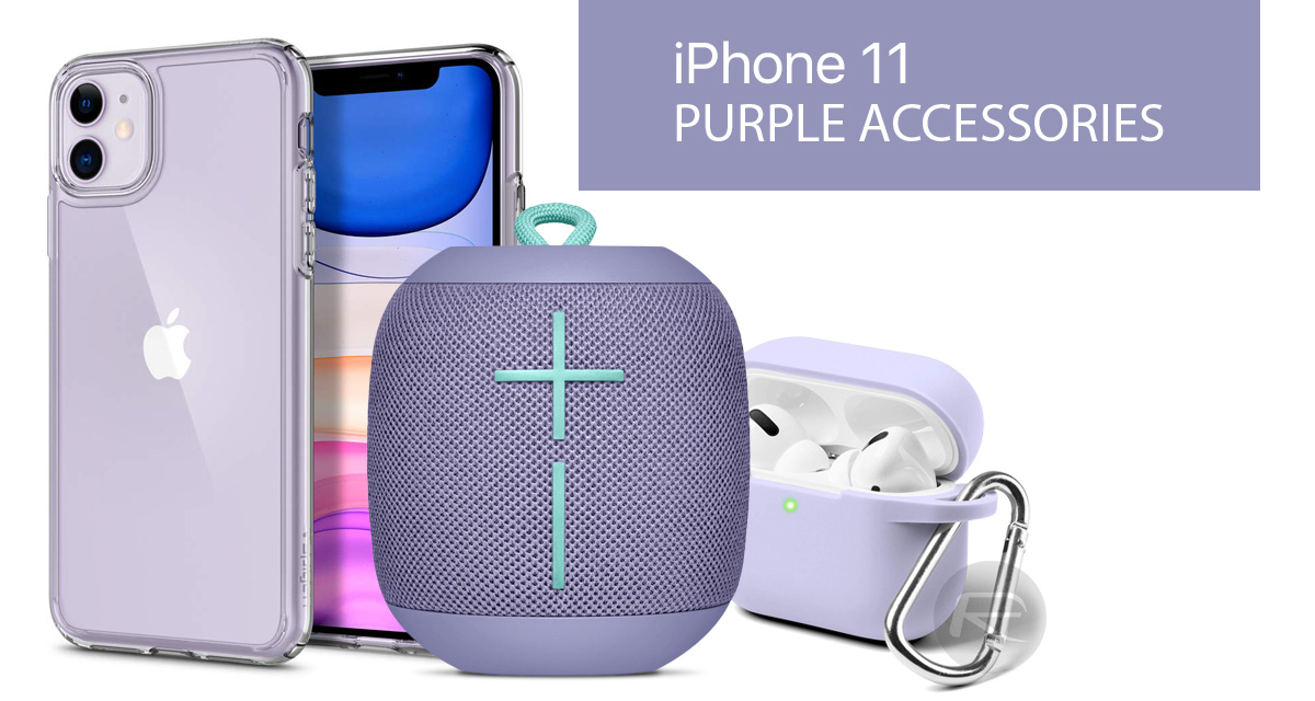 Purple iPhone 11 Accessories Case, Lightning Cable, Qi USB