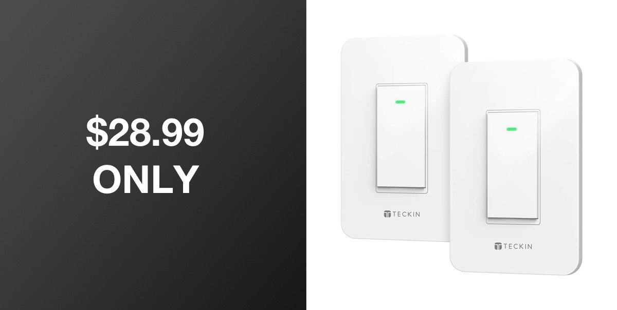 12 12 Deal Discounts The TECKIN Smart Light Switch To Just