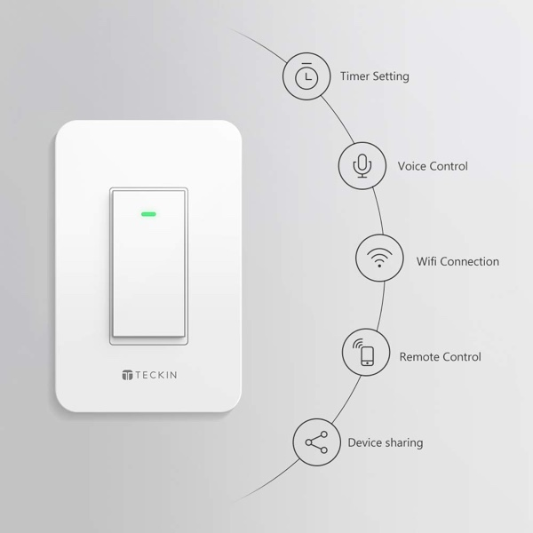 12.12 Deal Discounts The TECKIN Smart Light Switch To Just $28.99 ...