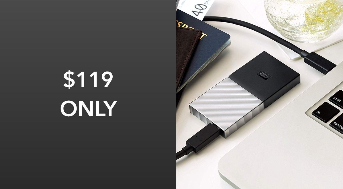 Wd 1tb Portable Ssd Is 65 Off For Cyber Monday Now Just 119 Redmond Pie