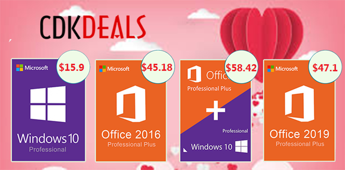 Valentine's Day Deal: Buy Couple Of Windows 10 Pro Licenses For Only  Each